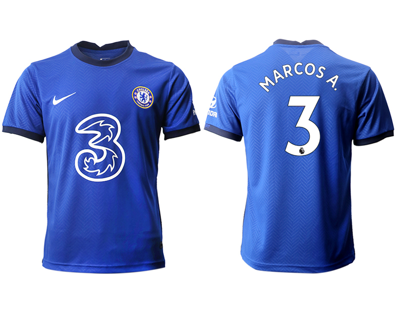 2020-21 Chelsea 3 MARCOSA. Home Thailand Soccer Jersey