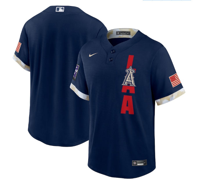 Angels Blank Navy Nike 2021 MLB All-Star Cool Base Jersey