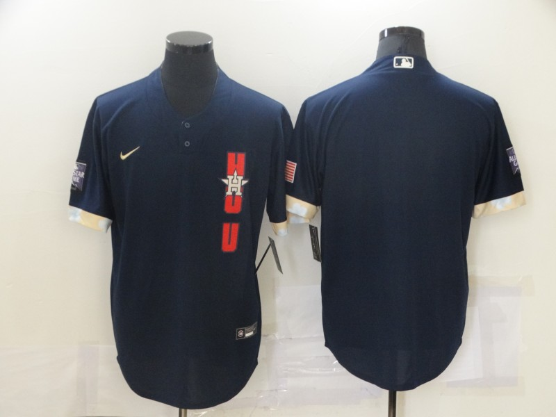Astros Blank Navy Nike 2021 MLB All-Star Cool Base Jersey