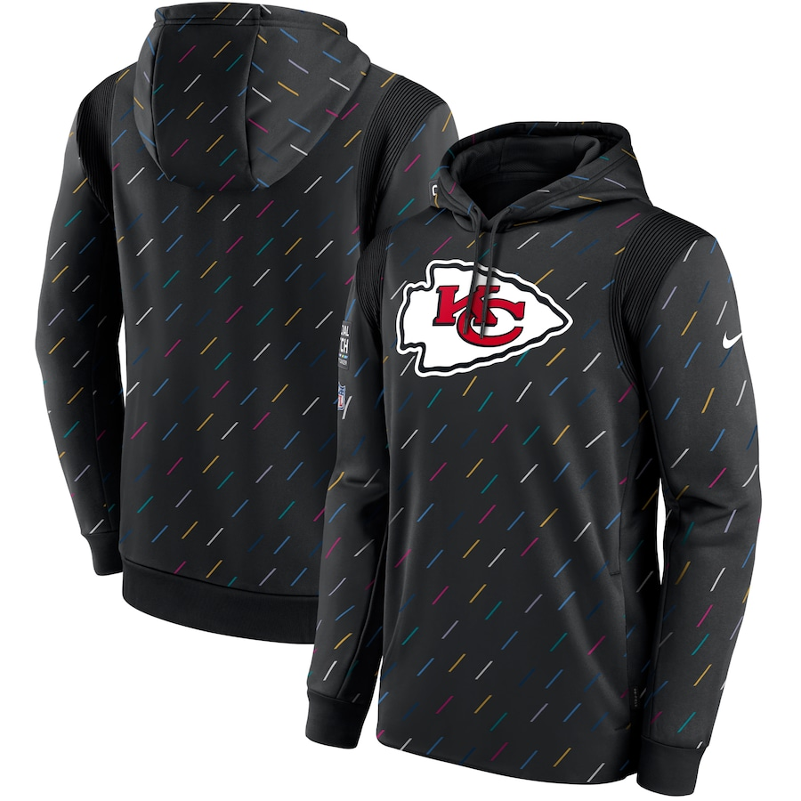 Men's Kansas City Chiefs Nike Charcoal 2021 NFL Crucial Catch Therma Pullover Hoodie