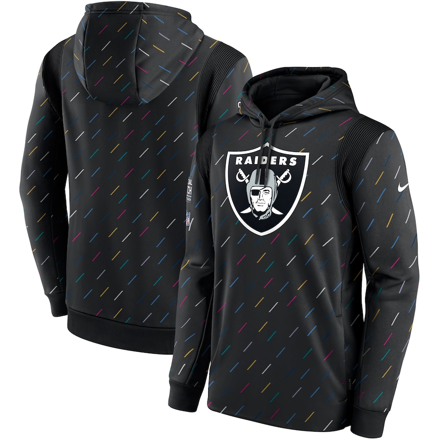 Men's Las Vegas Raiders Nike Charcoal 2021 NFL Crucial Catch Therma Pullover Hoodie