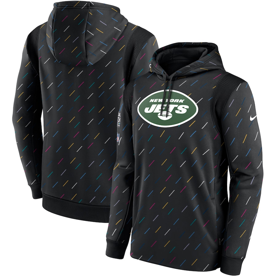 Men's New York Jets Nike Charcoal 2021 NFL Crucial Catch Therma Pullover Hoodie