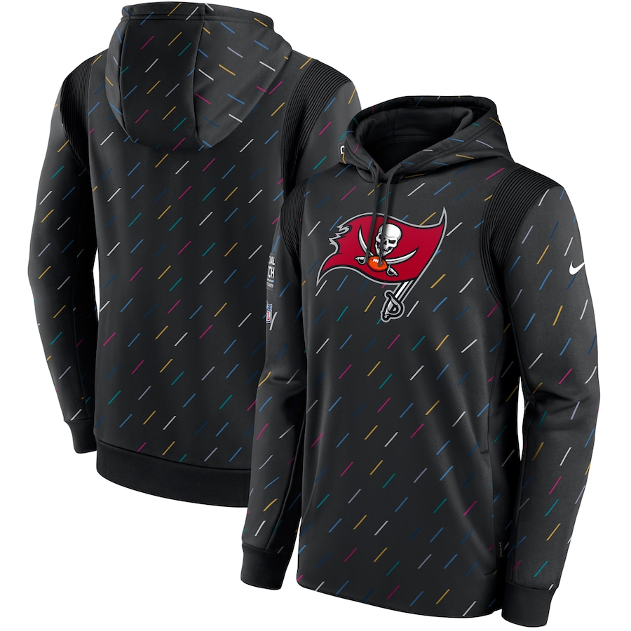 Men's Tampa Bay Buccaneers Nike Charcoal 2021 NFL Crucial Catch Therma Pullover Hoodie