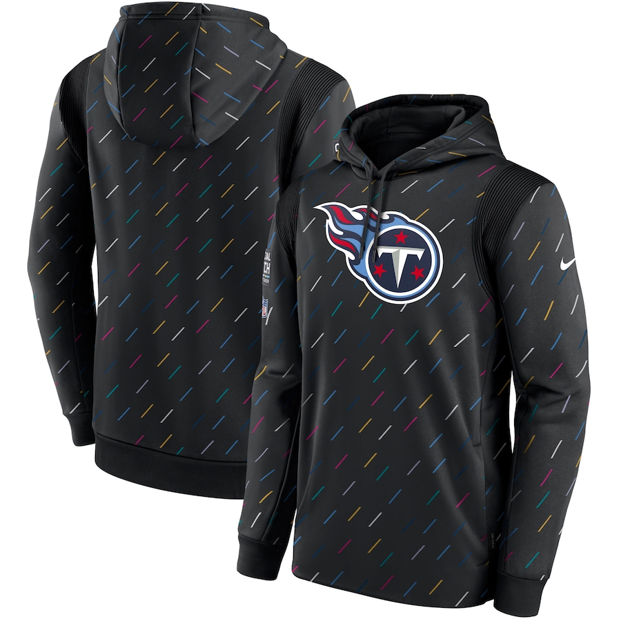 Men's Tennessee Titans Nike Charcoal 2021 NFL Crucial Catch Therma Pullover Hoodie