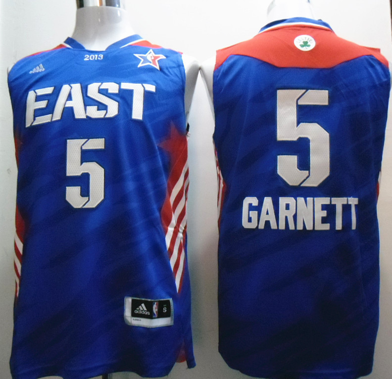 2013 All Star East 5 Garnett Blue Jerseys