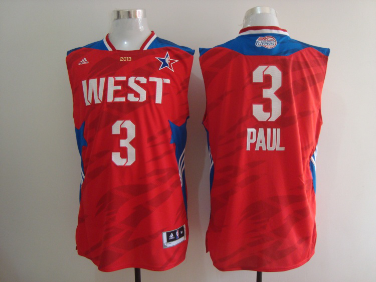 2013 All Star West 3 Paul Red Jerseys