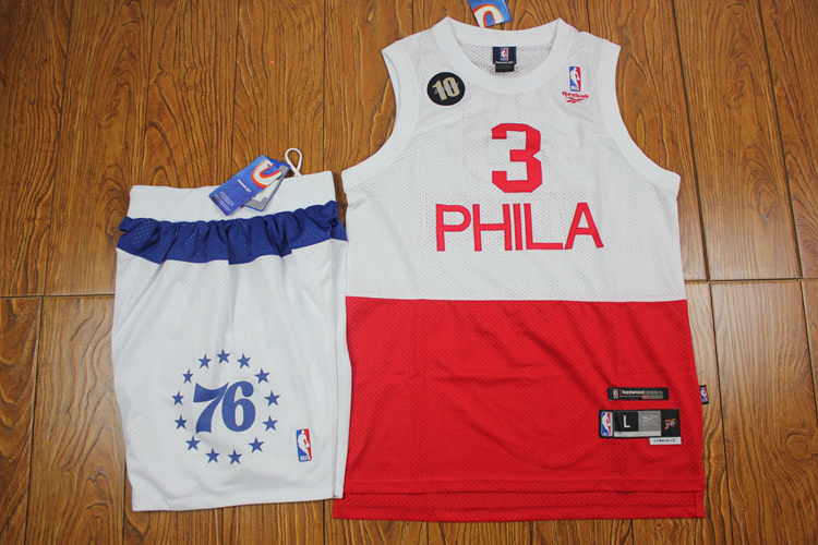 76ers 3 Iverson White&Red Suits