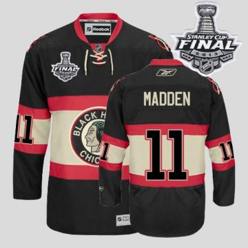 Blackhawks 11 John Madden Black New Third With 2013 Stanley Cup Finals Jersey