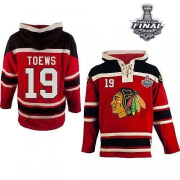 Blackhawks 19 Jonathan Toews Red Sawyer Hooded Sweatshirt With 2013 Stanley Cup Finals Jerseys