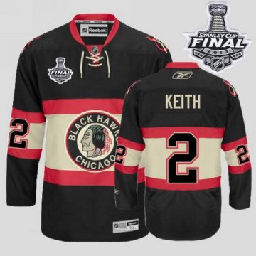 Blackhawks 2 Duncan Keith Black New Third With 2013 Stanley Cup Finals Jerseys