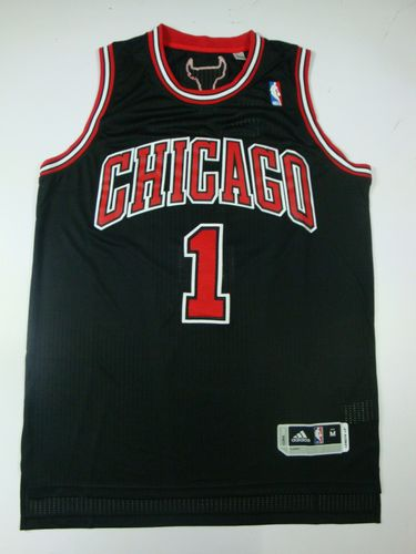 Bulls 1 Rose Black AAA Jerseys