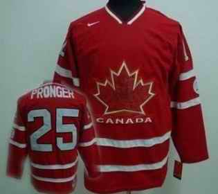 Canada 25 PRONGER Red Jerseys