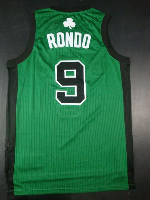 Celtics 9 Rondo Green AAA BlackNumber Jerseys