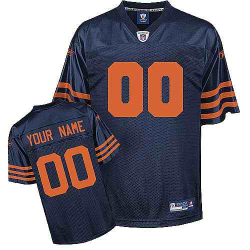 Chicago Bears Youth Customized blue orange number Jersey