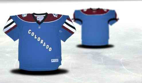 Colorado Avalanche Youth Customized Blue Third Jersey