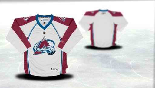 Colorado Avalanche Youth Customized White Jersey