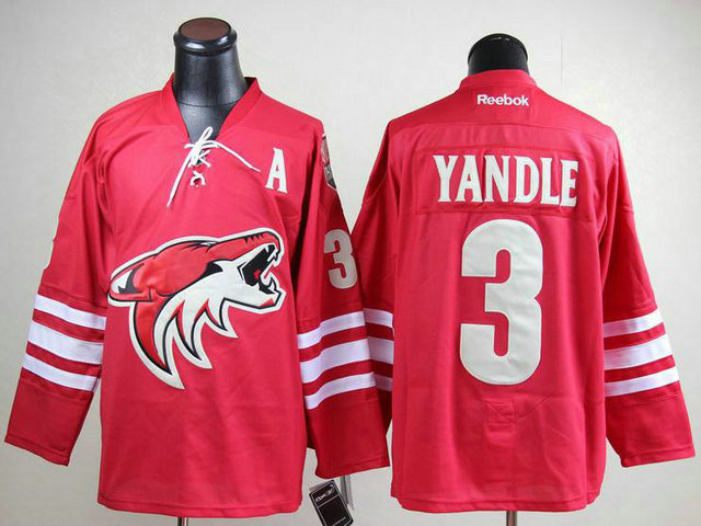 Coyotes 3 Yandle Red With A Patch Jerseys