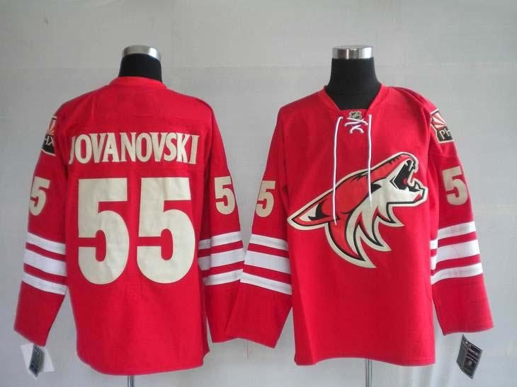 Coyotes 55 Jovanovski red Jerseys