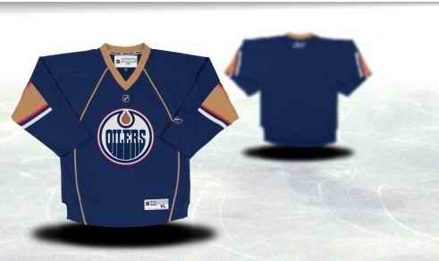 Edmonton Oilers Youth Customized Blue Third Jersey