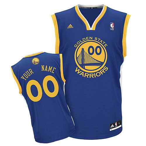 Golden State Warriors Youth Custom blue Jersey