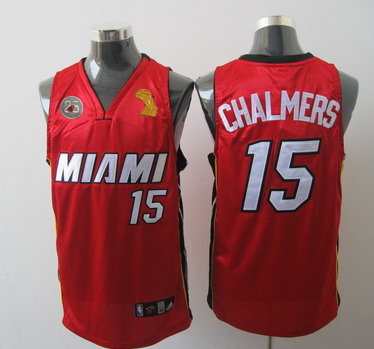Heat 15 Chalmers Red 2013 Champion&25th Patch Jerseys