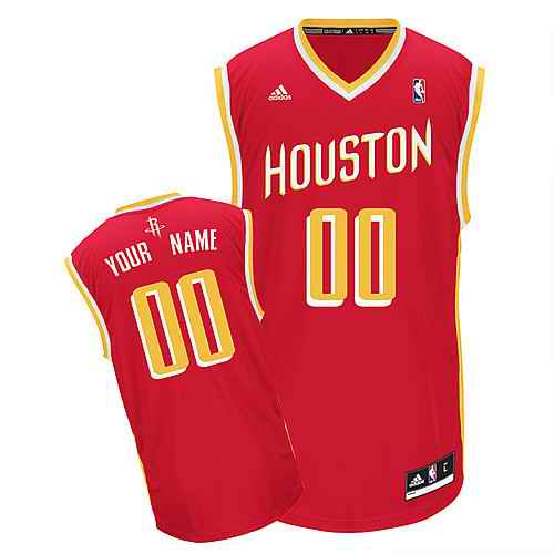 Houston Rockets Youth Custom red yellow number jersey