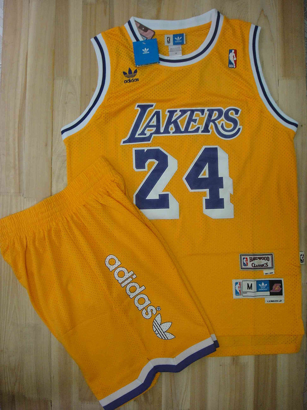 Lakers 24 Bryant Yellow Suit