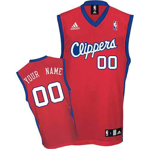 Los Angeles Clippers Youth Custom red Jersey