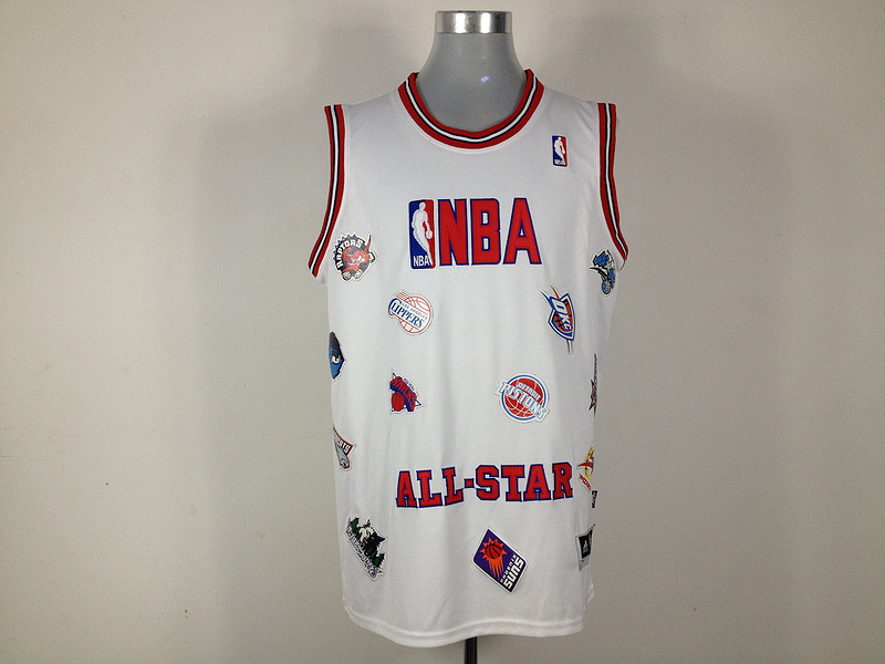 NBA All Star White Jerseys