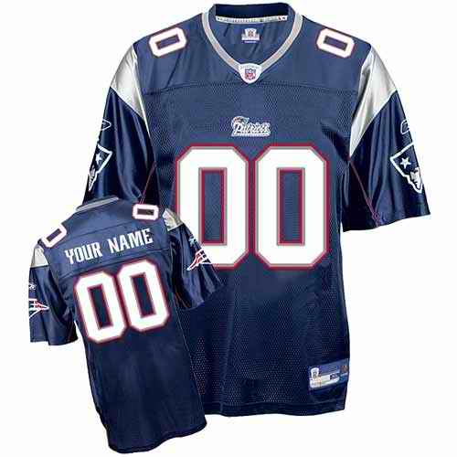 New England Patriots Youth Customized blue Jersey