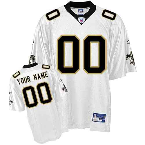 New Orleans Saints Youth Customized White Jersey