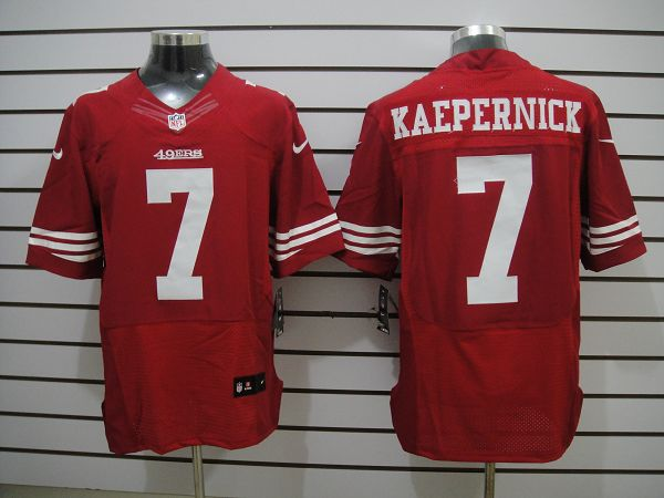 Nike 49ers 7 KAEPERNICK Red Elite Jerseys