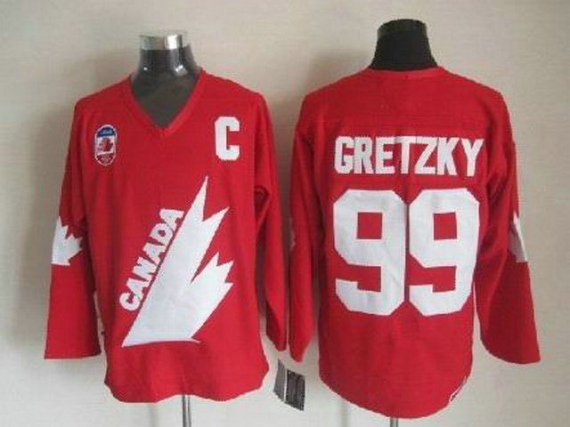Olympic Team Canada 99 Gretzky Red With C Patch CCM Jerseys