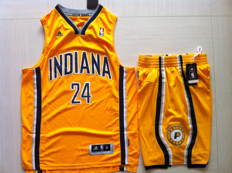 Pacers 24 Paul George Yellow Suits