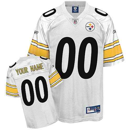 Pittsburgh Steelers Men Customized White Jersey
