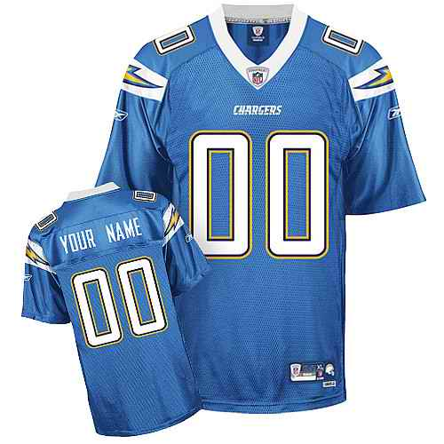 San Diego Chargers Men Customized light blue Jersey