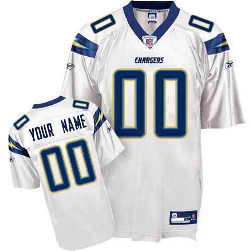 San Diego Chargers Youth Customized White Jersey