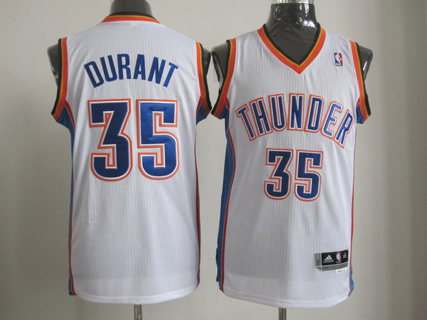 Thunder 35 Durant White AAA Jerseys