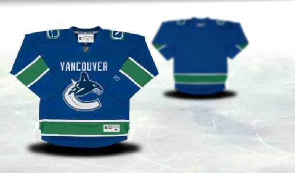 Vancouver Canucks Youth Customized Blue Jersey