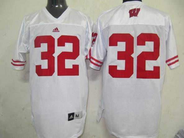 Wisconsin Badgers 32 white Jerseys
