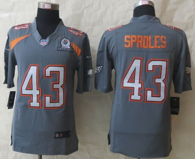 Nike Eagles 43 Sproles Grey 2015 Pro Bowl Game Jerseys