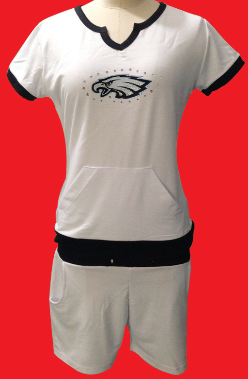 Nike Eagles White Women Sport Suits