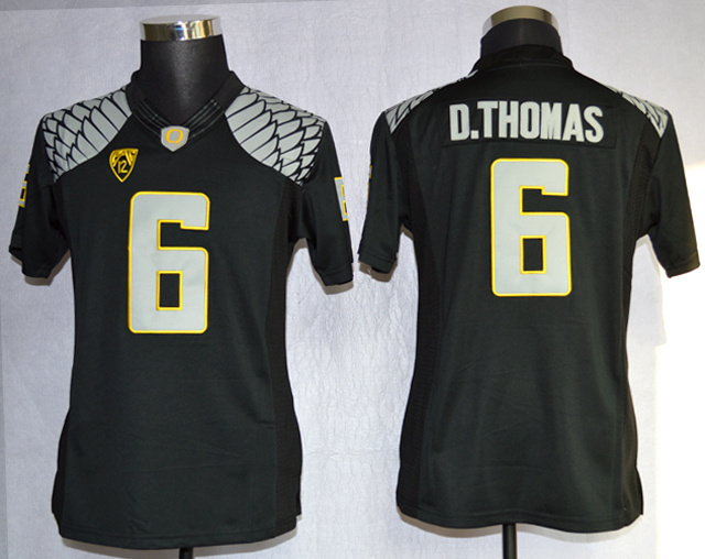 Oregon Ducks 6 D.Thomas Black Limited Women Jerseys