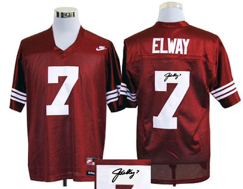 Stanford Cardinals 7 Elway Red Signature Edition Jerseys